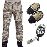 H World EU Esercito Militare Tattico Airsoft Paintball Shooting Pants Pantaloni da Combattimento Uomini con Knee Pad