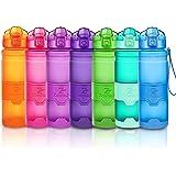 ZOUNICH Botella Agua Deporte Botellas Agua Niños sin BPA, Reutilizable Tritan Plástico Ecologica con Filtro, 400ml/500ml700ml