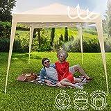 Pavillon tonnelle de jardin - pliant (montage rapide) - beige - 3 x 3 m - avec sac de transport - DIVERSES COULEURS AU CHOIX