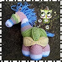 PUZZLE BALL MONTESSORI CABALLO GANCHILLO AMIGURUMI PERSONALIZABLE (Bebé, crochet, ganchillo, muñeco,