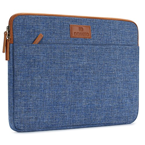 "DOMISO 14 Zoll Laptophülle Hülle Sleeve Case Etui Notebook Schutzhülle Canvas-Gewebe Tasche für 14"" Notebook Chromebook / 14"" Lenovo ThinkPad T470 E470 / 14"" HP 14, Blau"