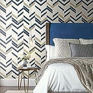 "RoomMates RMK9004WP Chevron Stripe Peel and Stick Wallpaper 20.5"" x 16.5 feet RMK900"