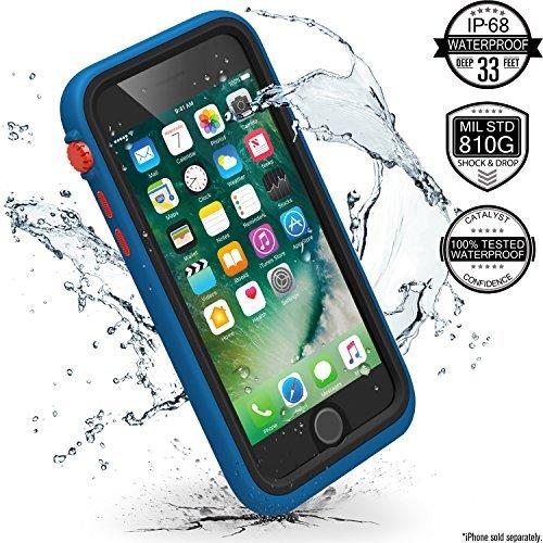 Catalyst Hülle für Apple Iphone 7 (blau/rot), wasserdicht, schockabsorbierend, mit voller Touchscreen-Funktion inkl. Touch ID