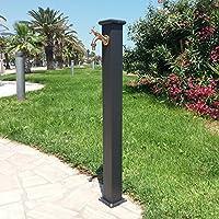 Fonderia Bongiovanni Fuente a Columna de Acero con Grifo para Exterior Casa Jardín Modelo Olimpia Color