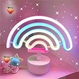 LED-Regenbogen Neonlicht Zeichen Neon Schilder Lampen Blitz Neon Lights warmes Weiß Dekor-Blitz Neonlichter Batterie/USB Powe