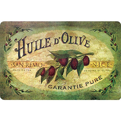 Apache Mills Cushion Comfort Cabernet Küchenmatte Vintage-Olivenöl 18-Inch X 30-Inch weiß -