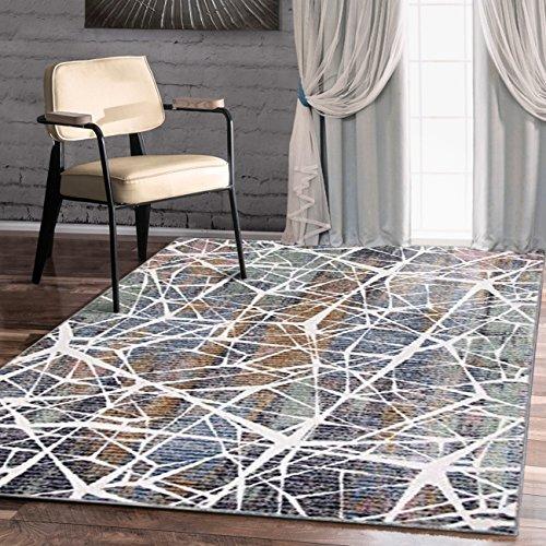 Elfenbein-schlafzimmer-möbel (A2z Schnellspanner Teppich Modern Top Qualität (grün, elfenbeinfarben, Multi 150x 225cm–4'22,9cm X 7' 10,2cm FT) Deco Collection aus Keramik Bereich Teppich, perfekt für Wohnzimmer–Esszimmer–Schlafzimmer Teppiche und Teppiche)