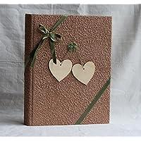 Album fotografico con cuori in legno 23x30 portafoto regalo foto matrimonio artigianale 60 foto