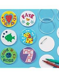 Lot de 10 Badges à personnaliser - Idéal pour les fêtes d'anniversaire