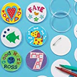 Design a Badge Kit 55mm Clear Plastic Badge with Blank Paper Inserts for Children to Personalise & Offer as a Gift for Father's Day (Pack of 10) Now Discount Deals