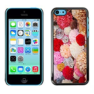 Omega Covers - Snap on Hard Back Case Cover Shell FOR Apple iPhone 5C - Spring Flowers Bouquet Field Valentines
