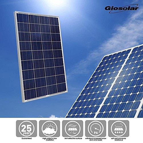 Giosolar Solarmodul Polykristallin 200W (2X100 Watt) Solarpanel – Solarmodul Solarzelle Photovoltaik, 100 W, 12 V PV-Modul Mit 90cm Kabel und MC4 Steckern-Camping - 6