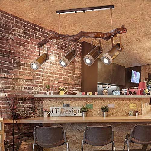 HYLH Retro Seil Schlafzimmer Wohnzimmer Bar Theke Cafeacute; Land Bambus Holz Strahler (Farbe : Warmes Licht)