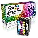 N.T.T.® ★★ PREMIUM ★★ 5x XL kompatible Multipack Druckerpatronen (2 Schwarz, 1 Cyan, 1 Magenta, 1 Yellow) mit aktuellstem Chip für Epson Expression Home XP-332, XP-335, XP-432, XP-435 Tintenpatronen kompatibel zu Epson 29-XL T-2991 T-2992 T-2993 T-2994