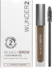 WUNDER2 WunderBrow Eye Brow Gel - perfekte Augenbrauen in weniger als 2 Minuten, Farbe: Brunette