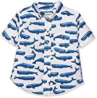 Hatley Boy's TS2OCWH411 Shirt, Turquoise (Patterned Whales), 6 Years