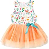 Zrom 0-4 Years Baby Girls Dress,Toddler Kids Baby Girls Strap Flowers Floral Princess Dress Casual Clothes