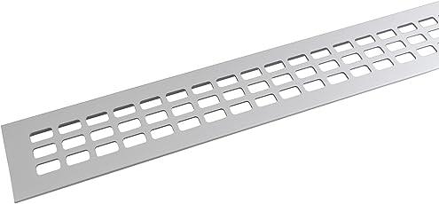 SECOTEC Lüftungsgitter 60 x 600 mm| Alu | Oberfläche: natur eloxiert | 1 Stück Abluftgitter