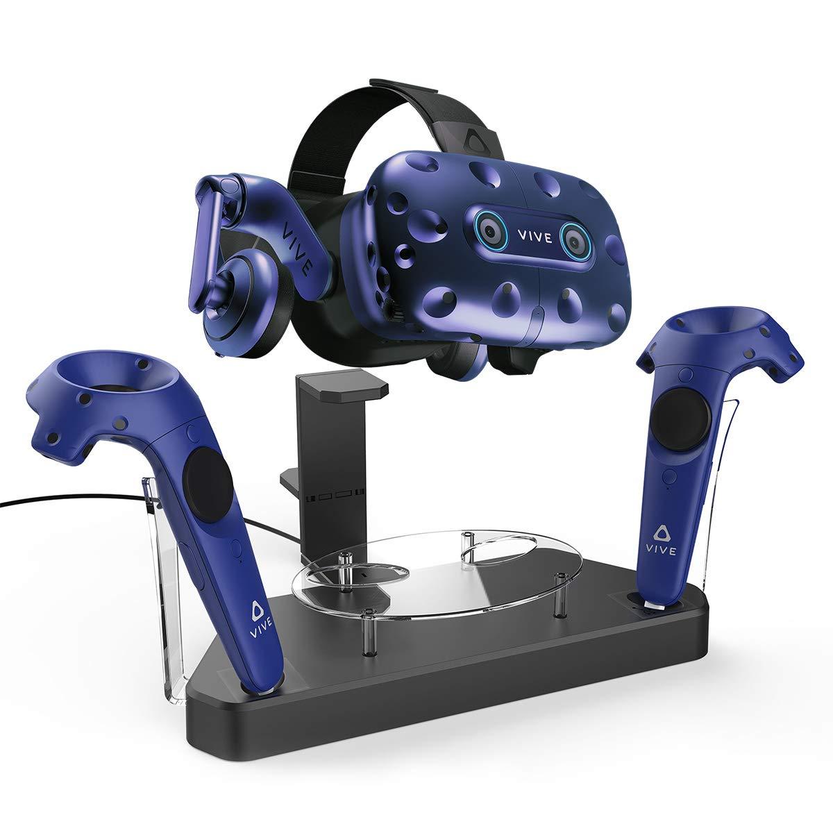 AFAITH Station de Chargeur/Support Magnétique à double, Mise à Niveau du Micrologiciel de l'Assistance Technique pour casque contrôleur HTC VIVE / HTC VIVE Pro