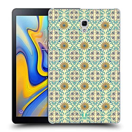 mast Mit Blumen Majolika Drucken Ruckseite Hülle für Samsung Galaxy Tab A 10.5 (2018) ()