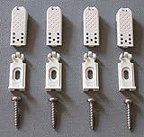 4 Plissee Spannschuhe Cosiflor Befestigung - altes Cosiflor-System 1 (2001-2006)