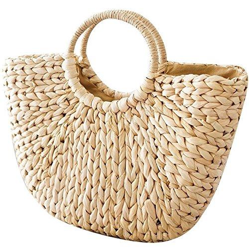 Bolso de mimbre de OneMoreT, perfecto para la playa, ideal para verano, estilo retro