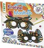 Rundum Kunterbunt Kratzel-Masken-Set: Anleitung und Material für 6 Kratzel-Masken, Spieleideen und Würfel zum Falten und Ausmalen