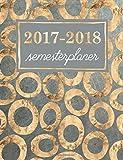 Semesterplaner: Studentenkalender, Wochenplaner und Studentenplaner für Studenten: Metallic Goldherzen & Rüschen in Navy Blau (Geschenkidee: Planer und Kalender fürs Studium)
