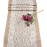 Yosemite Vintage Natural Jute Burlap Hessian Table Runner Tablecloth Rustic Wedding Home Decor