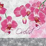 Serviettes Napkins 33x 33cm serviettage Rose Orchidée fleur...