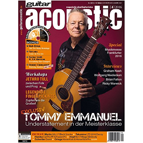 guitar acoustic 4 2016 mit CD - Tommy Emmanuel - Interviews - Akustikgitarre Workshops - Akustikgitarre Playalongs - Akustikgitarre Test und Technik - Akustikgitarre Noten