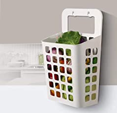 Wall Hanging Laundry Basket by House of Quirk for Vegetable Storage, Bathroom Sucker Hanging Laundry Basket - Multicolor