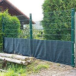 DEMA Sichtschutzzaun 25 x 1 m dunkelgrün