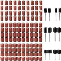 LUWANZ 132 Piezas bandas de lijado 12 Piezas mandriles de tambor Juego de tambores de lijado (Grano 80)