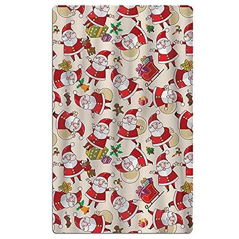 Santa Claus emoji Serviettes de bain doux Lavable en machine facile d'entretien piscine Serviette de voyage de séchage rapide Multipurpose Utilisation Spa de qualité léger Serviette