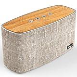 Enceinte Bluetooth Speaker Portable 30W, COMISO Haut-Parleur Bluetooth sans Fil 3D Digital Sound 20 Heures d'autonomie en Lecture, Compatibilité Android, Smartphone (Beige)