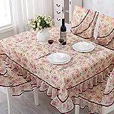 Senston - Mantel de jacquard para mesa, TV, etc., diseño floral, rojo (PPLS), 51 x 70 pouces (130 *...