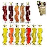 MEGA Premium Geschenkset & Probierset | 7 x 100 ml Öl & 5 x 100 ml Essig | Einzigartig im Geschmack | sehr beliebt zu j