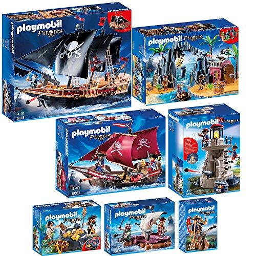 PLAYMOBIL® Piraten 7-tlg. Set 6678 6679 6680 6681 6682 6683 6684 Piraten-Kamp...