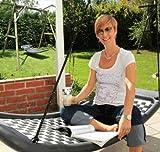 Relaxschaukel LIFESTYLE STANDARD Farbe wählbar, platzsparend, 166 x 66 cm (weiß/schwarz)