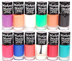 Makeup Mania Nail Polish Set of 12 Pcs (Multicolor Set  93)