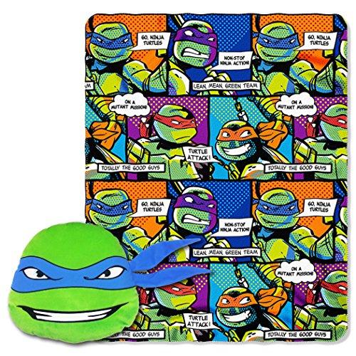 Northwest Nickelodeon Teenage Mutant Ninja Turtles Fleece Überwurf in Pocket Set, 101,6x 127cm Fleece-turtle