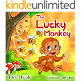 "Children's books : "" The Lucky Monkey "",( Illustrated Picture Book for ages 3-8. Teaches your kid the value of thinking before acting),Beginner readers,Bedtime ... (Children's books-The Lucky Monkey 1)"