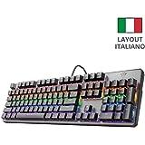 Trust Gaming GXT 865 Asta Tastiera Meccanica Gaming, Switch Red (Tasti Meccanici Rosso), Retroilluminazione, Anti…