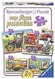 Ravensburger 06954 - Meine liebsten Baustellenfahrzeuge, my first puzzles 2,4,6,8 Teile