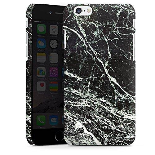 Apple iPhone X Silikon Hülle Case Schutzhülle Marmor Look Schwarz Black Marble Marmoriert Premium Case matt