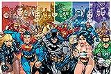 DC Comics PP32586 - Póster (tamaño Grande), diseño de la Liga de la Justicia