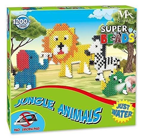 Super Bead Set - Jungle Aqua Beads for Kids - Water Beads Children's Playset - 1200+ pieces - MozArt Supplies