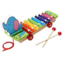 WP Child Kid Baby 8-Note Xylophone Musical Toys Xylophone Wisdom Juguetes Music Instrument ( Random Design )