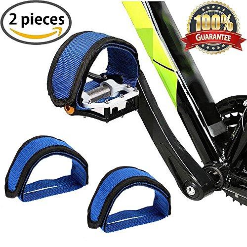 Bicicletta piede pedale pedali bici con cinghia per Fixed Gear 1coppia di Meiso